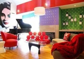 интерьер квартиры в стиле поп арт
