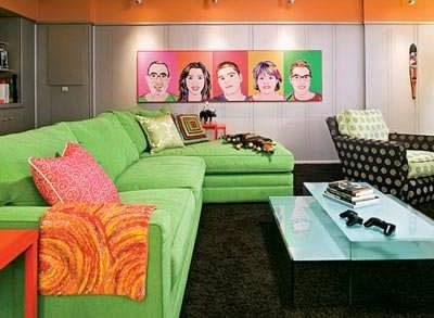 интерьер спальни в стиле поп арт